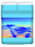 Shadows In The Surf Duvet Cover