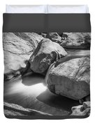 Shadows Of A Creek In Black And White Duvet Cover