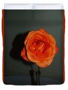Shadows Of A Peach Rose Duvet Cover