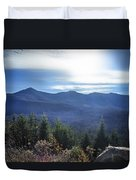 Shadows Of The Majestic , White Mountains Duvet Cover