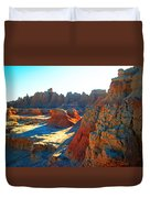 Shadows On The Badlands Duvet Cover