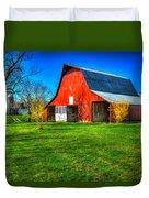 Shadows On The Barn Tennessee Farm Art Duvet Cover
