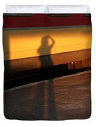 Shadows On The Platform 2 Duvet Cover