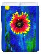 Shaggy Moon For A Shaggy Flower Duvet Cover