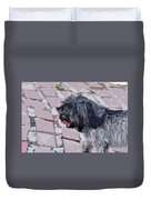 Shaggy Pup Abstract Duvet Cover