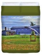 Shaker Barn And Sorghum Mill Duvet Cover