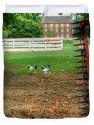 Shaker Chickens Duvet Cover