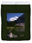 Shallow Mountain Lake Duvet Cover