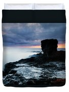 Shaped By The Waves Duvet Cover by Mike  Dawson