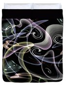 Shapes Of Fluidity Duvet Cover