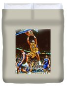 Shaquille O'neal Los Angeles Lakers Oil Art Duvet Cover