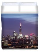 Shard Oxo Tower London Eye Walkie Talkie From Balfron Tower Duvet Cover