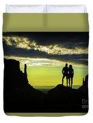 Sharing A Monument Valley Sunrise Duvet Cover