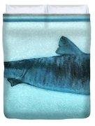 Shark In Magic Cubes - 2 Of 3 Duvet Cover