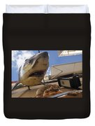 Shark On The Wall Duvet Cover