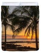 Sharks Cove Sunset 4 - Oahu Hawaii Duvet Cover