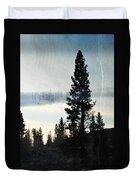 Shasta Trinity National Forest Sunrise Portrait Duvet Cover