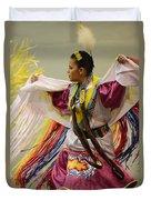 Pow Wow Shawl Dancer 4 Duvet Cover