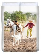 Shawnee Sagers Goat Roping Competition Duvet Cover
