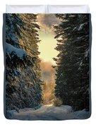 Shawnigan Winter Road Duvet Cover