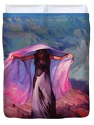 She Danced By The Light Of The Moon Duvet Cover