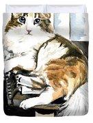 She Has Got The Look - Cat Portrait Duvet Cover