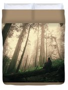 She Is At Peace Duvet Cover