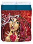 She Who Comforts Us Duvet Cover
