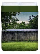 Shed At Camp Pecometh Duvet Cover