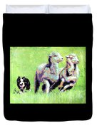 Sheep And Dog Duvet Cover