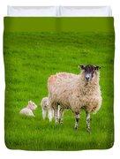 Sheep And Lambs Duvet Cover