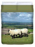 Sheep At Westbury Tor Duvet Cover