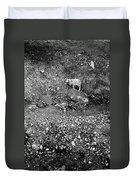 Sheep In Bw Duvet Cover