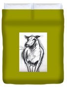 Sheep In Charcoal  Duvet Cover