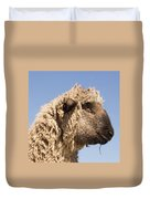 Sheep In Profile Duvet Cover