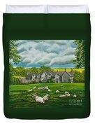 Sheep In Repose Duvet Cover