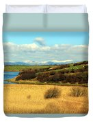 Sheep On The Hillside Duvet Cover