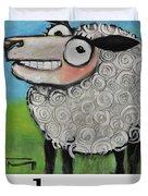 Sheep Poster Duvet Cover