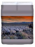 Sheepherder Life Duvet Cover
