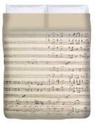 Sheet Music For The Barber Of Seville By Rossini  Duvet Cover
