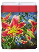 Sheherazade Lilies 1 Duvet Cover