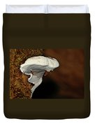 Shelf Fungus On Bark - Quinault Temperate Rain Forest - Olympic Peninsula Wa Duvet Cover by Christine Till