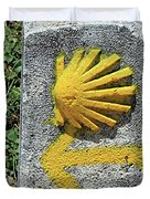 Shell And Arrow Marker, El Camino, Spain Duvet Cover