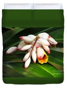 Shell Ginger Flowers Duvet Cover