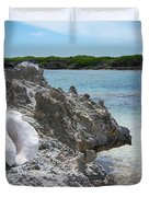 Shell On Dominican Shore Duvet Cover