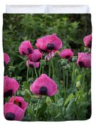 Shell Shaped Poppies Duvet Cover