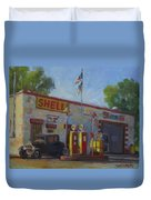 Shell Station Brown County Duvet Cover