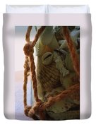 Shells In A Bottle Duvet Cover by Diane Reed