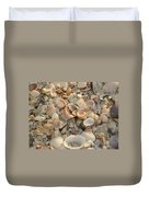 Shells On Beach Duvet Cover