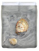 Shells On The Beach II Duvet Cover